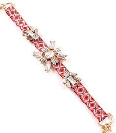 Ikat classic with a Sweet Crystal Twist Bracelet
