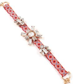 Ikat classic with a Sweet Crystal Twist Bracelet