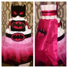 Baby Batgirl Diaper Cake