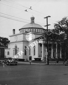 This was our church.  The Central Congregational Church on the corner of Ponce de Leon and Piedmont.  I was in the children's choir and I loved Sunday school.  The church is gone now but it was such a pretty building.