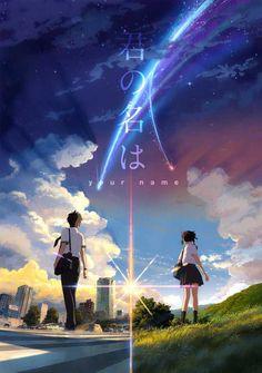 Kimi no Na wa (Your Name): as 25 imagens mais belas do anime! Film Anime, Art Anime, Manga Anime, Kimi No Na Wa Wallpaper, Your Name Wallpaper, Poster Anime, Your Name Anime, Japon Illustration, Image Manga