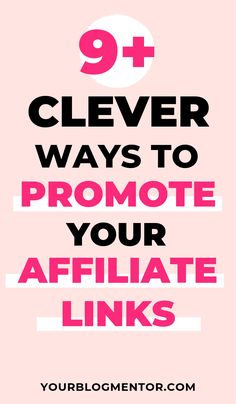 clever ways to promote your affiliate links - Affiliate Marketing - Home Business Success - Make Money Online Marketing Logo, Affiliate Marketing, Marketing Program, Business Marketing, Online Marketing, Digital Marketing, Mobile Marketing, Inbound Marketing, Marketing Plan