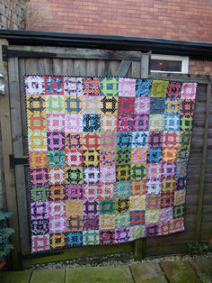 Churn Dash - A Brit Bee Quilt by Laura @ Needles, Pins and Baking Tins, via Flickr