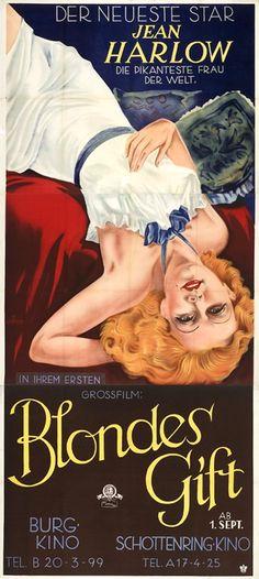 Platinum Blonde (1931) - Austrian Three Sheet (Robert Fuchs)