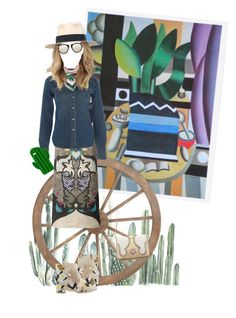 """""""Another Western"""" by puellasum on Polyvore featuring Mary Katrantzou, Laurence Dacade, Denim & Supply by Ralph Lauren, The Volon, Sarina, Emilio Pucci and Karen Walker"""