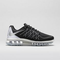 huge selection of 6025b d3b94 Nike Air Max 2015 Femme Chaussures Noir Blanc Blanc sommet Reflect Argent Air  Max 2015,