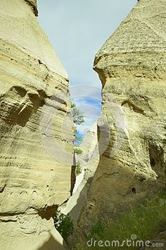 Walking through the Tent rocks in New Mexico.