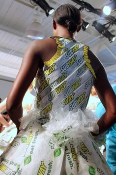 Runaway project - a fashion project inspired by Subway brand - showcased at New York Fashion Week.  #fashion #subway #newyorkfashionweek