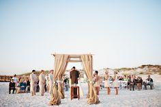 Vintage Inlet Beach wedding