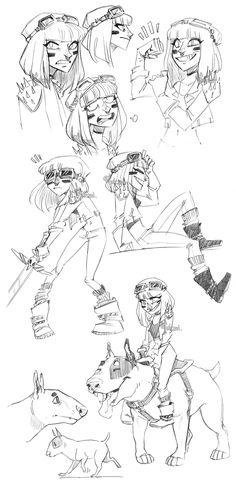 warrior princess sketch dump by Fukari.deviantart.com on @DeviantArt