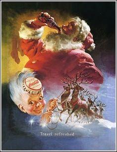 Coca-Cola's Iconic Santa Claus Ads by Haddon Sundblom | Abduzeedo Design Inspiration - https://www.facebook.com/createAmixer