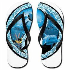 #Artsmith Inc             #ApparelFootwear          #Women's #Flip #Flops #(Sandals) #Dolphin #Fish #Ocean #Yang #Symbol          Women's Flip Flops (Sandals) Dolphin Fish and Ocean Yin Yang Symbol                                     http://www.seapai.com/product.aspx?PID=8149745