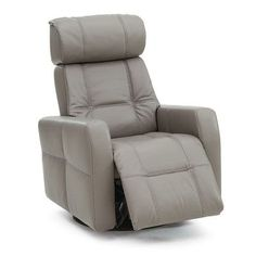 Palliser Furniture Myrtle Beach Swivel Glider Recliner Type: Power, Upholstery: All Leather Protected - Tulsa II Stone