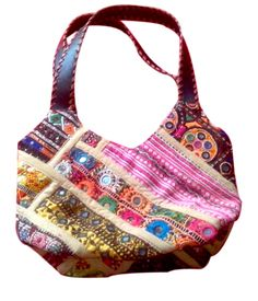 Hobo Handbag Gujarati Embroidery Banjara handbag and purses for ladies. Indian traditional and colorful designs ideal for this Christmas gifts from Kirti Textile