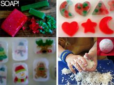 Christmas Soaps. Fun idea for the kids to make!