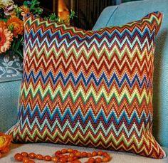 A traditional zigzag design originating in Italy.