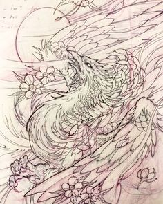 Phoenix for today. Phoenix Design, Phoenix Tattoo Design, Phoenix Art, Tattoo Sketches, Tattoo Drawings, Body Art Tattoos, Sleeve Tattoos, Tatoos, Fenix Tattoos