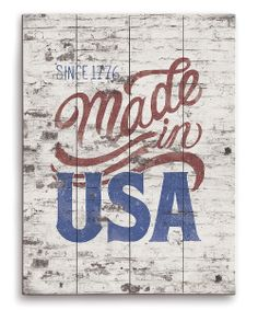 'Made in the USA' Wall Art