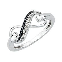 Black and White Infinity Fashion Ring