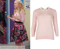 Liv & Maddie: Season 2 Episode 21 Liv's Pink Embellished Collar Sweater