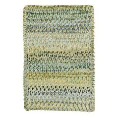 Ocracoke 0024 Cross Sewn Braided Rectangle Area Rug - Pale Green - 0425XS00200030225