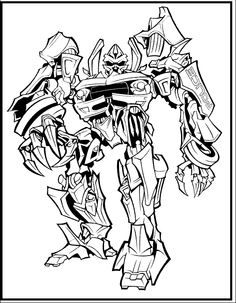 Transformer Robot Police Coloring Picture For Kids Cartoon Pages Online