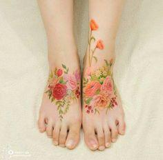Wildflowers tattoo. Floral WatercolorWatercolor ...