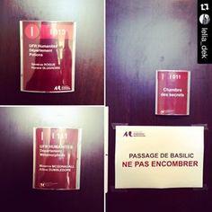 D'après la porte-parole de l'université, ces détournements datent de l'année dernière. On peut voir certains d'entre eux sur le compte Instagram de Bordeaux-Montaigne. | Mais qui a mis des panneaux Harry Potter dans cette fac de Bordeaux?