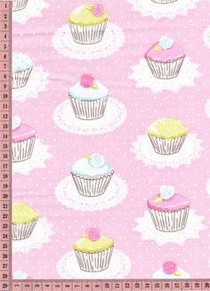 cupcakes irisé sur rose 50cm
