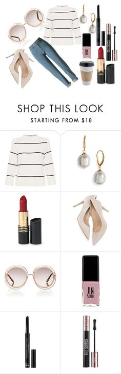 """""""Untitled #951"""" by cashtonlv on Polyvore featuring OUTRAGE, L.K.Bennett, Majorica, Revlon, M. Gemi, Chloé, Jin Soon, Christian Dior and Yves Saint Laurent"""