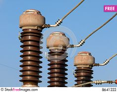 Electrical Substation Insulators - Free Stock Photos & Images ...