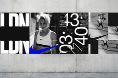 Dark Side of Typography Nike Poster, Nike Design, Sports Graphic Design, Graphic Design Posters, Sport Design, Rage, Sports Advertising, Monospace, Plakat Design