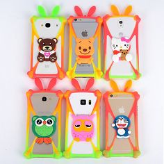 Cute Cartoon Silicone Universal Cell Phone Cases Fundas For ZTE Prestige N9132 Silicone Phone Cover Capa