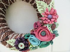 lovely felt wreath
