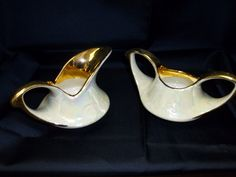 Pearl China Company Lustreware Sugar and Creamer Set Gold Trimmed Pattern PEA9 Vintage by BigBlossomAntiques on Etsy
