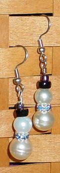 beaded snowman earrings project