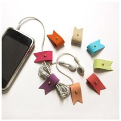 Roll Up Earphone Organizer | MochiThings.com