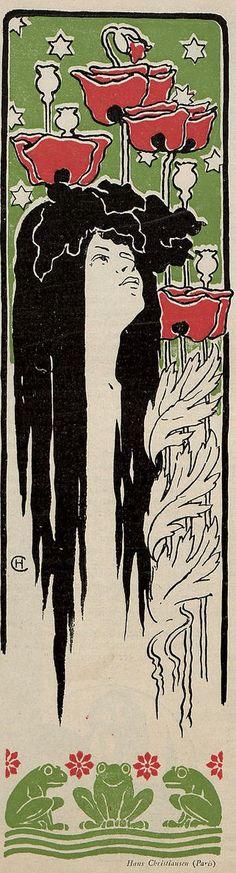Art Nouveau illustration by Hans Christiansen, 1897 for Jugend magazine.