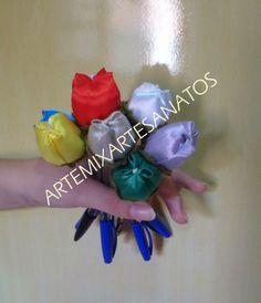 artemix artesanato: canetas tulipas perfumadas
