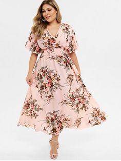 Plus Size Bohemian Maxi Floral Dress,Plus Size Bohemian Maxi Floral Dress. Outfits Plus Size, Dress Plus Size, Plus Size Maxi Dresses, Casual Dresses, Summer Dresses, Vestido Maxi Floral, Floral Print Maxi Dress, Robe Swing, Swing Dress
