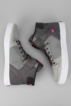 Need these in a men's 5. UrbanOutfitters.com > Supra Vaider High-Top Sneaker Cool Mens Shoes, Mens High Top Shoes, Mens High Tops, High Top Sneakers, Shoes Sneakers, Sneakers Fashion, Fashion Shoes, Mens Fashion, Canvas Sneakers