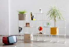 Supercake combines shelves and plant pots in modular storage system for renters