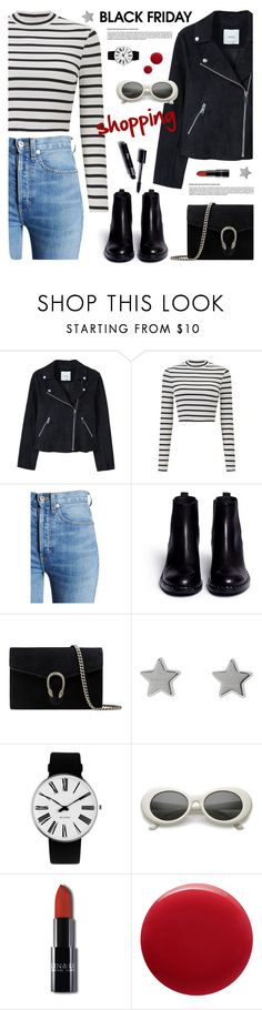 """""""Steal Those Deals: Black Friday"""" by tamara-p ❤ liked on Polyvore featuring MANGO, Miss Selfridge, RE/DONE, Ash, Gucci, Rosendahl, Oribe and blackfriday"""
