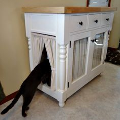 DIY Kitty Litter Cabinet Hides UGLY Litter Box