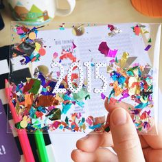 cute pocket life confetti pocket idea, birthdays, new year, etc. Anything worth celebrating.