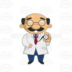Male Doctor Holding Up A Stethoscope #antitoxin #bald #bones #cure #doc #doctor #dr #drug #expert #funnylooking #glasses #healer #male #man #MD #medical #patient #pharmaceutical #physician #pill #prescription #quack #remedy #scientist #specialist #stethoscope #surgeon #vaccine