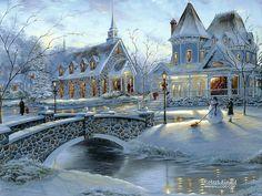 Robert_Finale_art_paintings_HomeForChristmas.jpg #Christmas