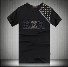 Men's Fashion T Shirt with center LV flowers label