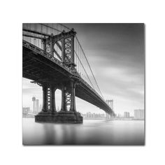 Trademark Fine Art Moises Levy 'Manhattan Bridge I' Canvas Art