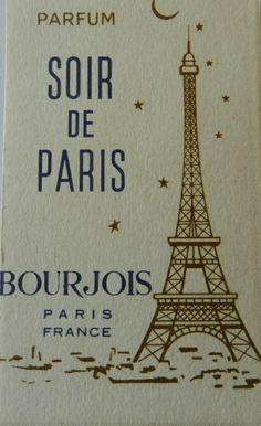 * Soir de Paris Bourgeois Vintage Perfume Card